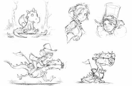 2016-11-15_various-black-and-white-sketches_by-David-Revoy