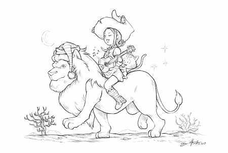 2019-03-19_Sketch-lion-for_JDLL_2019_by-David-Revoy