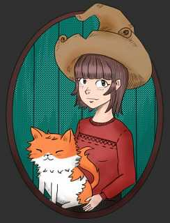 2020-03-19_Me-and-my-cat-as-Pepper-and-Carrot_by_Fnareoh