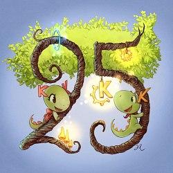 KDE 25 anniversary by David Revoy
