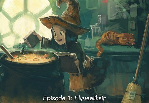 Episode 1: Flyveeliksir (click to open the episode)