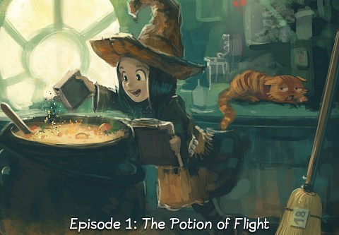 Episode 1: The Potion of Flight (click to open the episode)