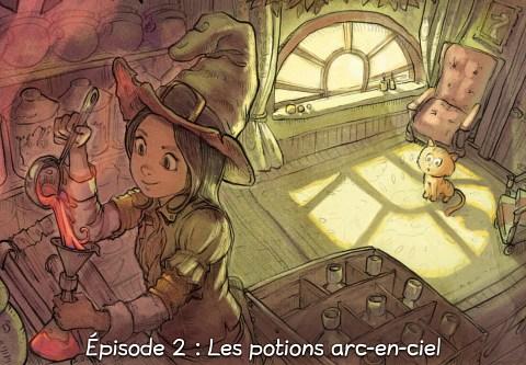Épisode 2 : Les potions arc-en-ciel ( cliquez pour ouvrir l'épisode )