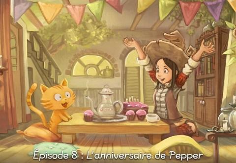 Épisode 8 : L'anniversaire de Pepper ( cliquez pour ouvrir l'épisode )