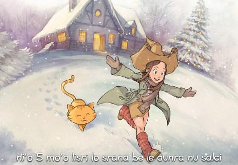 i 5 mo'o lisri lo srana be le dunra nu salci (click to open the episode)