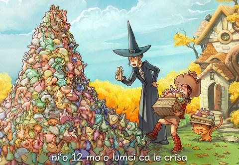 i 12 mo'o lumci ca le crisa (click to open the episode)