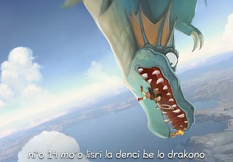 i 14 mo'o lisri la denci be lo drakono (click to open the episode)