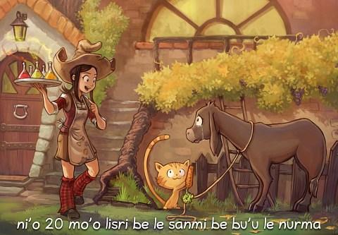 i 20 mo'o lisri be le sanmi be bu'u le nurma (click to open the episode)