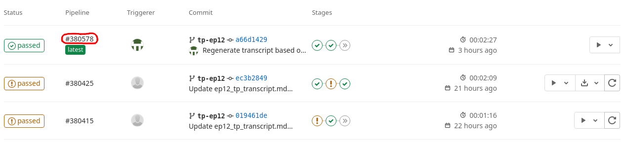 GitLab CI - pipeline runs